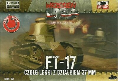 First To Fight 1/72 (20mm) Renault FT-17 with 37mm Puteaux Gun & Round Turret