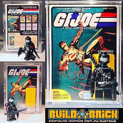 GI Joe Snake Eyes #21 custom MINI FIGURE w Card Display case /& stand Cobra Arah