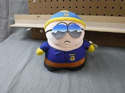 Rare South Park Plush Cartman Cop Police man with tags 7 1/2 inch tall Fun 4 All