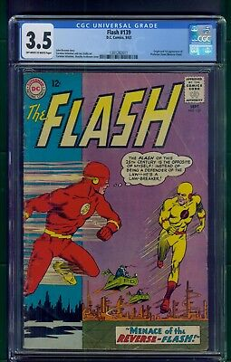 Flash #139 (1963) CGC Graded 3.5  Origin & 1st Appearance Reverse-Flash (Zoom)