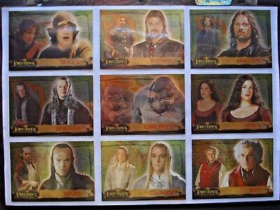 2006 Topps *lord Of The Rings Evolution* Complete 72 Card All Foil Base Set