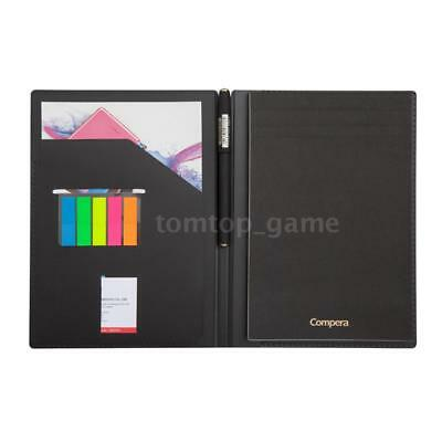 Business Notebook Edubook A5 Hard Cover Diary Notepad Bullet Journal Black Y0B9