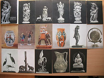 Handicraft Products India Statue Figurine Bone POST CARD Set Russian 38 art Old