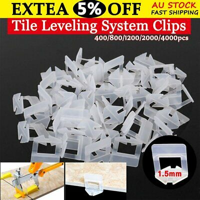 400-4000x Tile Leveling System Clips Spacer Tiling Tool Floor Wall 1.5mm AU