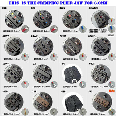 SN series crimping plier jaw clamp mould SN-01C bare insulating tubular terminal