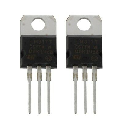 5X( 2 Pcs 1.2-37V 1.5A Positive LM317T AU 22 Paquet regulateur de tension E8V6)