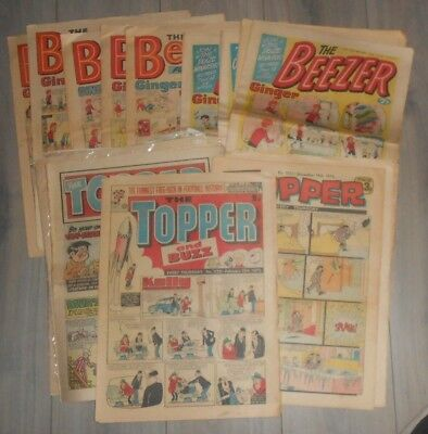 Lot Of 19 Beezer And Topper Comics 1971 To 1978 .