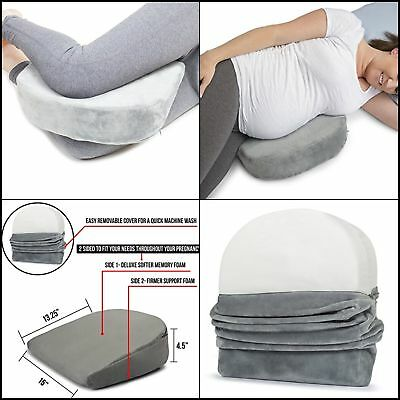 Pregnancy Maternity Pillow Wedge Cushion Memory Foam Bed Body Belly Back Support