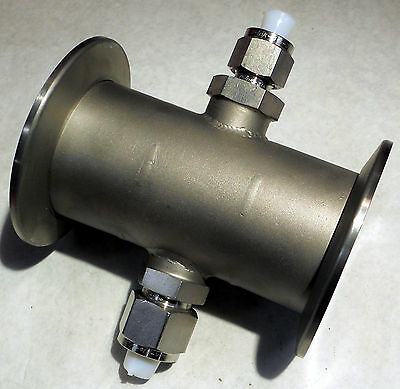 "Stainless Klein Kf-50 Flange Straight Pipe With 3/8"" 1/2"" Compression Fittings"