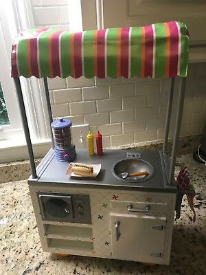 """American Girl 18"""" Doll Hotdog Hot Dog ONLY From Campus Snack Cart"""