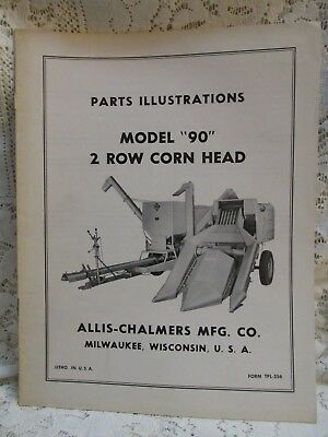 "Vintage Allis-Chalmers Parts Illustrations Model ""90"" 2 Row Corn Head"