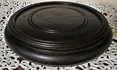 """Vintage 7"""" Carved Rose Wood Candle Stand or Oriental Wooden Lamp Base"""
