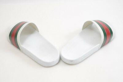 e793e196f Gucci Pursuit white multi 12 rubber signature stripe slide sandal UK11 shoe   210