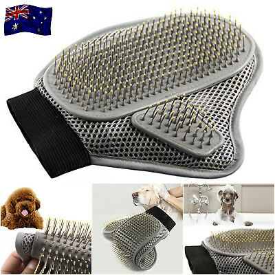 NEW Pet Dog Cat Silicone Grooming Glove Brush Shedding Hair Removal Comb Massage