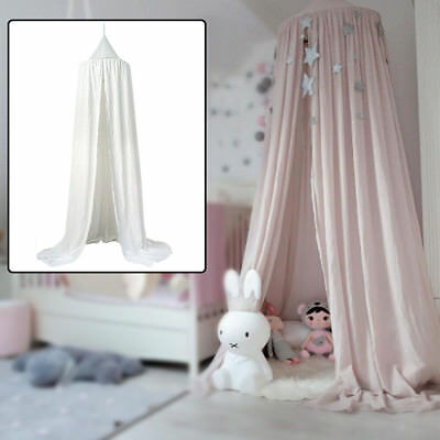 Cotton Baby Bed Canopy Bedding Round Dome Bedcover Mosquito Net Sleep Curtains