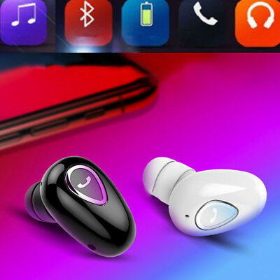 Mini Wireless Bluetooth Stereo In-Ear Headset Earphone Earbud for iPhone Android