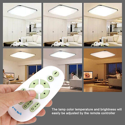 LED Ceiling Down Light Dimmable Kitchen Lamp Home Fixture with Remote Controller