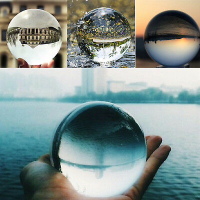 30mm Clear Glass Crystal Ball Healing Sphere Photography Decoration Props Gifts