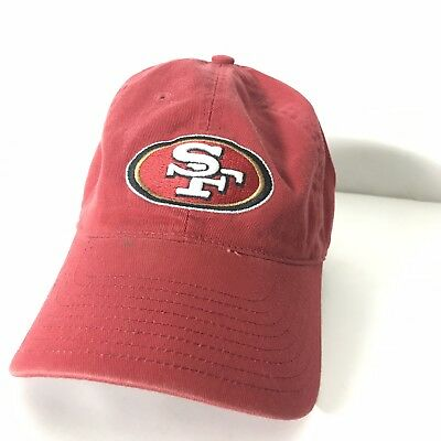 e47b3be72 San Francisco 49ers NFL brand Flex Fit Hat Cap Size Small NFL Dad Gold Red