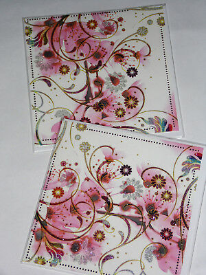 BIRTHDAY CARDS JUST 25p x 12  'TWICE AS NICE' WRAPPED, FOILED, (F19