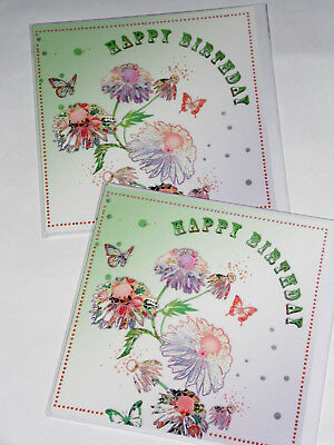 BIRTHDAY CARDS JUST 25p x 12  'TWICE AS NICE' WRAPPED, FOILED, (F11