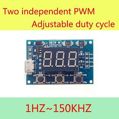 High Accuracy PWM Generator Adjustable Duty Cycle Pulse Frequency Module SS US #