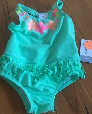 Carters Carter's Brand New Size 18 Months Swimmers Swimsuit One Piece Baby Girl