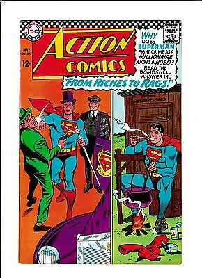 """Action Comics #337  [1966 Vg]  """"from Riches To Rags!"""""""