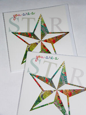 BIRTHDAY CARDS JUST 25p x 12  'TWICE AS NICE' WRAPPED, FOILED, (F54