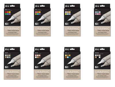 Spectrum Noir Graphic Designers Marker Pens 12 & 6 Pen Packs To Choose From