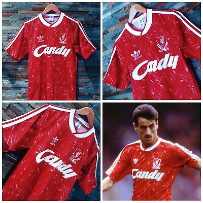 11c2aa1e2 Liverpool Authentic 1989 1991 Vintage Adidas  Candy  Home Shirt (Small)