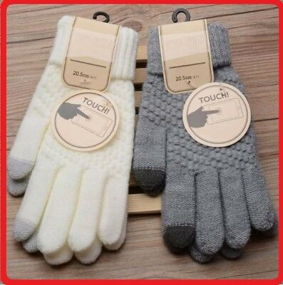 Unisex Gloves Knit Winter Gloves Thermal Insulation Touch Screen Men Women