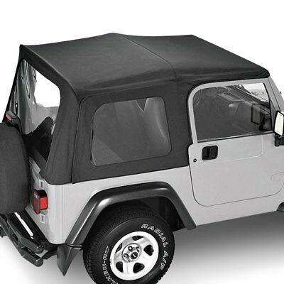 For Jeep Wrangler 88-95 Replay Black Denim Fabric Replacement Soft Top