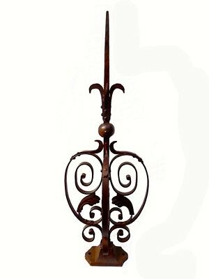 Architectural 3D Ornate Finial - Wrought Iron & Steel