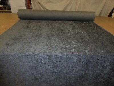 Job Lot 10m rolls of CHARCOAL GREY Chenille Upholstery / Curtain Fabric (Ernest)