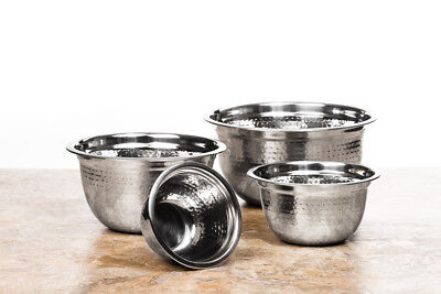 4 Pc High Quality Stainless Steel Hammer Design Mixing Bowls