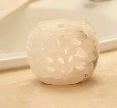 NEW illuminations Alabaster Tealight candle Holder NEW in box!