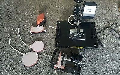 4 in 1 Swing Type, Sublimation Heat Press, Cups, Hats, Plates, T-Shirt Press