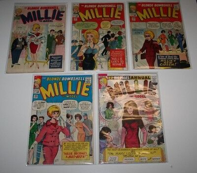 Millie the Model lot of 5 - 115 117 120 123 Annual 3 Stan Lee