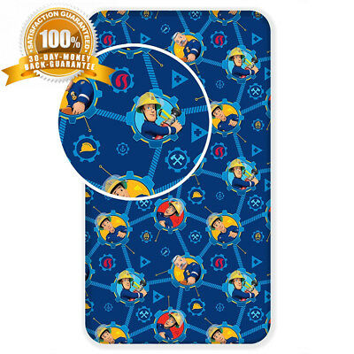Jerry Fabrics Fireman Sam Character Kids Fitted Sheets, Cotton,...