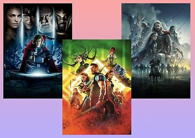 Marvel Comics THOR: The Dark World, Ragnarok,  A5 A4 A3 - Textless Movie Posters