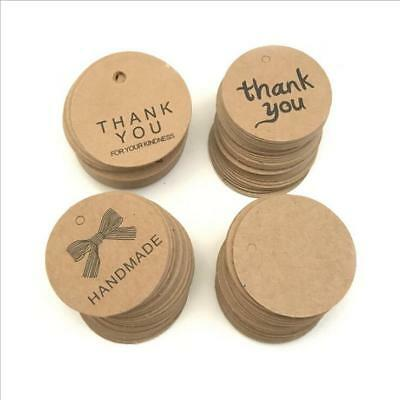 100pcs Kraft paper decorative tag Baking packaging Gift tag Party Gift Cards
