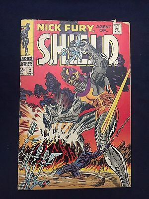 Shield #2 Nick Fury Agent Of S.h.i.e.l.d. #2 Gd+ 3.0 1968 Jim Steranko Art
