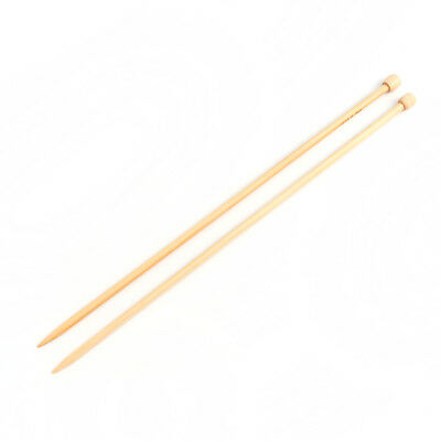 "6mm Bamboo Single Pointed Knitting Needles Natural 33cm(13"") long 1 Set/ 2 PCs"