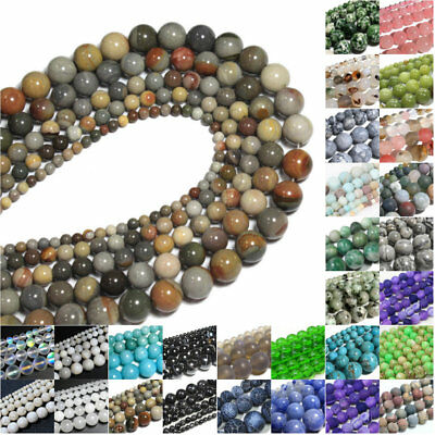 Series I Lot Natural Gemstone Spacer Loose Beads 4mm 6mm 8mm 10mm  Stone DIY