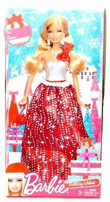 "2013 Holiday Wishes Christmas Barbie 11"" Fashion Doll NRFB!"