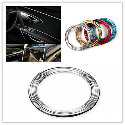 5M AUTO ACCESSORIES CAR Universal Interior Gap Decorative Line CHROME Shiny Nice