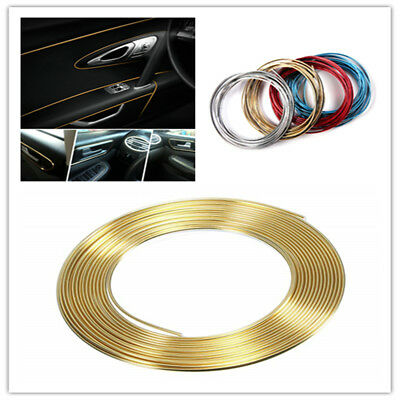 5M AUTO ACCESSORIES CAR Universal Interior Gap Decorative Gold Line CHROME Shiny