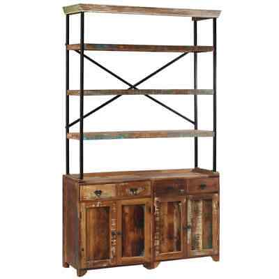 vidaXL Solid Reclaimed Wood Sideboard with Shelves 120x35x200cm Storage Unit