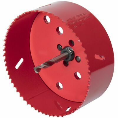 wolfcraft Hole Saw 112mm Bi-Metal Red Drill Accessory Cutter Tool 5496000